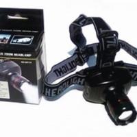 Senter Kepala Mini Zoom Head Lamp Murah / Head Lamp Flashlight