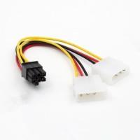 Kabel Power VGA / Adapter 2 molex to 6 pin / 6pin PCIE / PCI-E