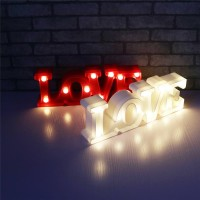 Love Led Night Lamp Shabby