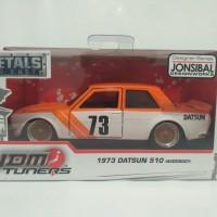 JADA 1/32 JDM Tuners - 1973 Datsun 510 widebody Oranye
