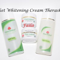 murah - paket whitening cream theraskin BPOM, pemutih pencerah aman