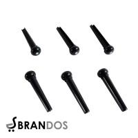Pin Bridge Gitar Akustik (6 PCS) Folk Guitar Impor GP-02B Hitam