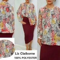 Liz Claiborne Tunic Long Sleeve style Blouse brand Murah