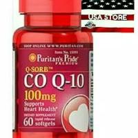 PURITAN 'S PRIDE Q SORB 60 ct Co Q 10 CoQ 100 mg