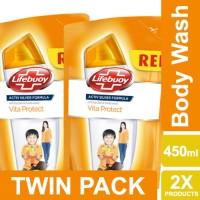 Lifebuoy Sabun Cair Vita Protect Refill 450ml Twin Pack Unilever