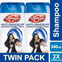 Lifebuoy Shampoo Anti Dandruff 340ml Twin Pack Unilever
