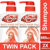 Lifebuoy Shampoo Anti Hairfall 680ml Twin Pack Unilever