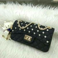 Ergesta Fashion-Tas Jelly Import Kombi Diamond Size Besar 22 cm