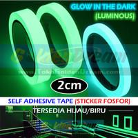 Per Rol ~ Glow In The Dark Tape 2cm Selotip Fosfor Luminous Sticker