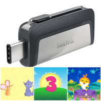 Flashdisk Dual Type C 16gb GRATIS Video/Audio Anak - Sandisk