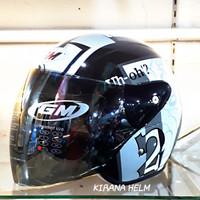 Helm GM Evolution Original - Gambar Tazmania #32 Hitam/Silver