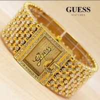 Jam tangan wanita Guess rantai merica