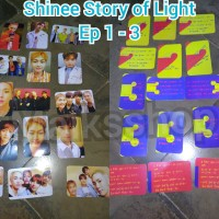 Shinee Story Of Light Ep 1 - 3 Photocard Kpop