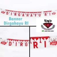 Banner / bunting flag Dirgahayu RI merah putih