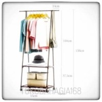 Diskon Gila - [HB404] Triangle Stand hanger / rak baju/ rak buku