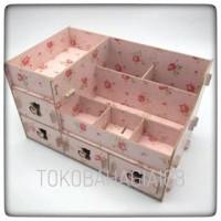 Diskon Gila - [RKK31] Rak kosmetik bahan kayu Desktop storage kitty c
