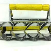 Cetakan Kue Bentuk Hati Stainless Steel