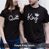 kaos couple | kaos pasangan | baju pasangan | simple king queen couple