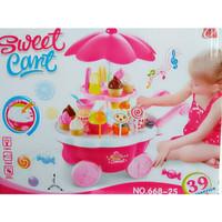 SWEET SHOP CANDY CART PINK 668-25 , MAINAN ANAK PEREMPUAN , KADO CEWEK