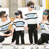 Baju Family Couple Pasangan Keluarga 2 Anak LP Abjad star 11131