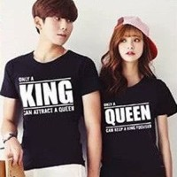 Baju Couple Kaos Oblong Pasangan Soulmate PD Only King 11127