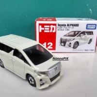 Tomica No 12 Toyota Alphard Putih Miniatur Mobil Diecast Takara Tomy