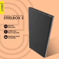 UNEED SteelBox 5 Powerbank 5000mAH Polymer Real Capacity - UPB211 - Black
