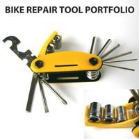 Kunci Reparasi Sepeda Multifungsi Silver - Bike Repair Tool