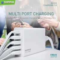 Hippo Onyx Smart Travel Charger 5 Port Quick Charge 3.0 Simple Pack