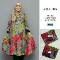 Atasan Blouse Adela Tunik Bahan Linen