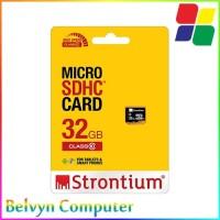 Strontium Basic MicroSDHC Class 10 32GB MicroSD Memory Card Smartphone