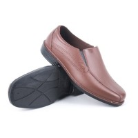 Sepatu kerja/formal Sepatu Pantofel Karet ATT ABK 530 Coklat