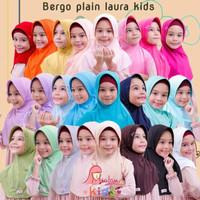 Kerudung atau Bergo Miulan Plain Laura Kids/ Anak