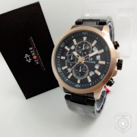Jam tangan HEGNER 424 HITAM RS GOLD CHRONO PRIA