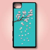 Sony Xperia Z5 Compact Custom Case Rubber Bunga Sakura Floral 0003