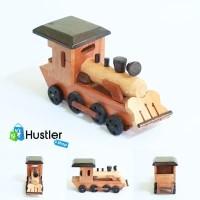 Hiasan / Miniatur / Pajangan Meja / Koleksi, Kereta Lokomotif Kayu
