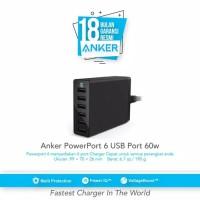 Anker PowerPort 60W USB Charger 6 Port - Black