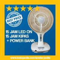 [15 JAM ON + POWER BANK] Kipas Angin Emergency Lampu Darurat Awet