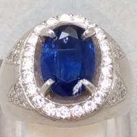 Batu Cincin Permata Blue Safir Australi Kyanite Asli