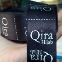 Label satin untuk merk baju atau hijab
