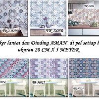 TR-A STICKER LANTAI TEGEL WALLPAPER ROLL FLOORING PARQUET STICKER