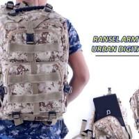 Tas Punggung Ransel Backpack Loreng Tactical Military Army Medium
