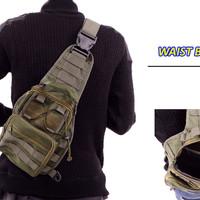 Tas Selendang Selempang Waist Sling Bag Tactical Army Military