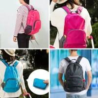 Tas Punggung Ransel Lipat Travel Backpack Folding Anti Air Water Proof