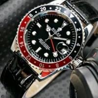 Unik Jam Tangan Pria Rolex Automatic Mesin Kulit leather Berkualitas