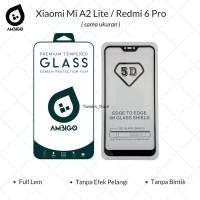 Xiaomi Mi A2 Lite / Redmi 6 Pro Tempered Glass 5D Full Cover Ambigo