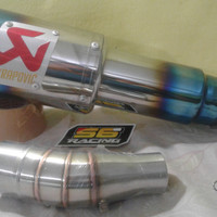 Knalpot racing akrapovic slipon Ninja 250 r25 CB150R facelift cbr 150