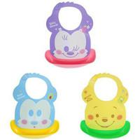 Disney Bib / Slaber Silikon Mickey Minnie Pooh Celemek Makan bayi