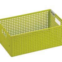 LOCK&LOCK Fashion Handle Basket Grey Kotak Penyimpanan HP265GR