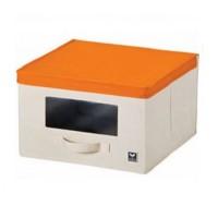 LOCK&LOCK Eco Living Window Box L Orange Kotak Penyimpanan LLB246O